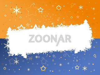 Weihnachtskarte orange/blau