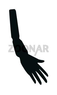 ARM MIT HAND (weiche Kante) - freigestellt