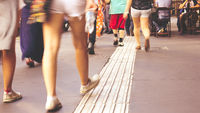 Crowded streets Brazil`s lagest city