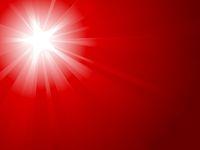 Red light burst with white star
