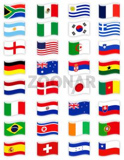 Flaggen Fussball WM