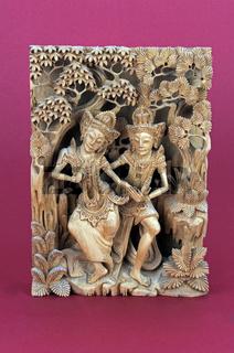 balinesische 3D Schnitzkunst in Palmenholz