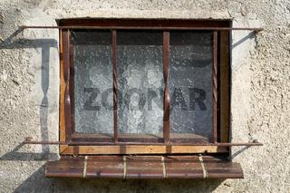 Fenster eines alten Hauses