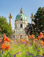 Baroque Karlskirche in Vienna
