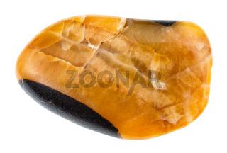 polished Simbircite (Yellow Calcite) gemstone