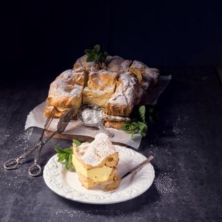 Karpatka is a traditional Polish cream pie