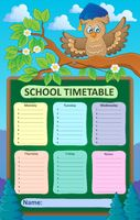 Weekly school timetable topic 1 - picture illustration.