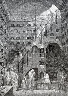 An ancient Roman columbarium, Rome, Italy