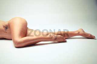 Photo Of White Woman Legs In A Sensual Position