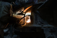 Industry. Photo of professional welder at work