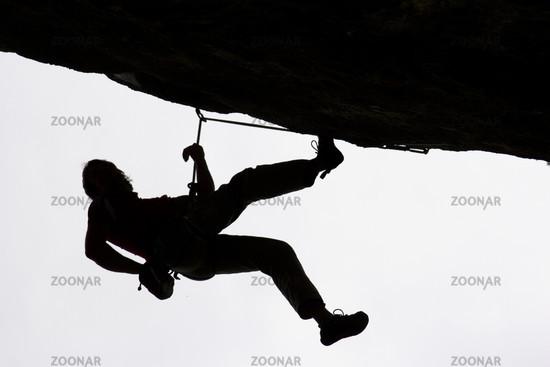 Überhangklettern / climbing
