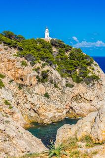 Leuchtturm bei Cala Rajada, Mallorca