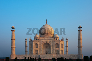 Centered Taj Mahal Empty at Sunrise