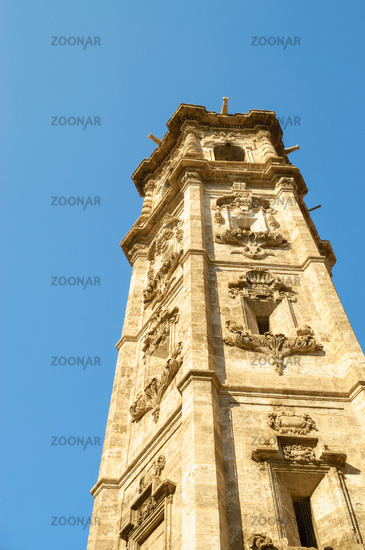 Tower of the Church of Santa Catalina in Valencia, Spain
