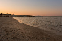 wonderful egyptian beach at sunset