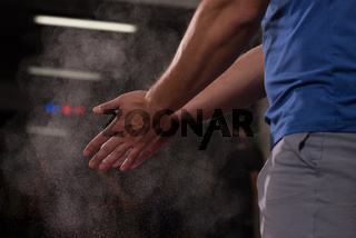 Gym Chalk Magnesium Carbonate hands clapping man