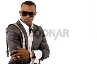 Gangster on a isolated white background