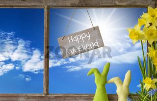 Window, Blue Sky, Happy Weekend