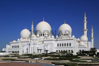 Abu Dhabi, Sheikh Zayed Grand Mosque, Westansicht