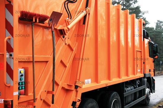 Garbage truck, brush & blade