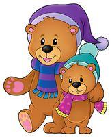 Stylized winter bears theme 1