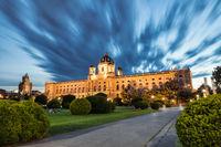 Museum of natural history Vienna Austria at night