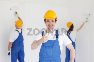 Workman gives thumbs up