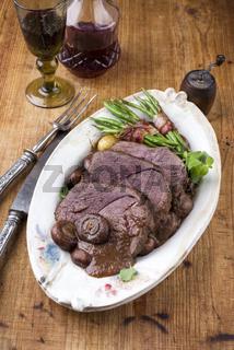 Roast Venison with Vegetable in Deer Sauce