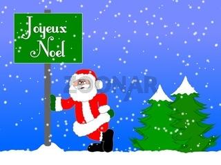 Weihnachtshintergrund französisch