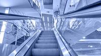 Perspective of escalator