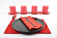 Weihnachtliches Gedeck mit Filz und Kerzen - Christmassy table setting with felt and candles