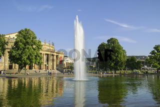 Staatstheater am Schlossplatz, Stuttgart, Baden-Wuerttemberg, Deutschland