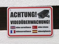 Information label Attention! video surveillance