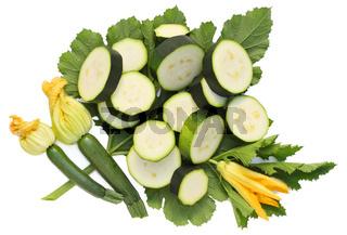 Pieces of vegetable marrows