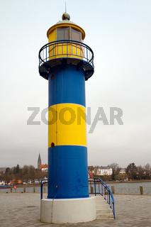 Historischer Leuchtturm in Eckernfoerde. Deutschland
