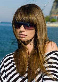 sweet girl with sunglass  - suesses gesicht