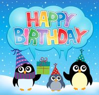 Party penguin theme image 5