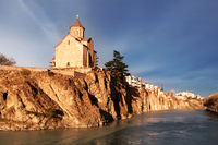 A view of the ancient church on a cliff