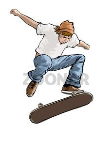 Skateboarder in Aktion
