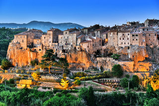 City of Pitigliano in Tuscany