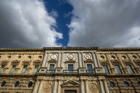 Southern facade of the Palace of Charles V