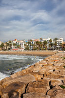 Sitges Seaside Resort Town in Spain