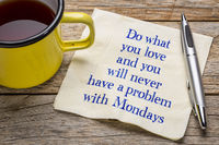 Do what you love and ... napkin note
