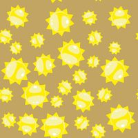 Cartoon sun seamless pattern 628