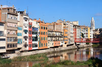 City of Girona Skyline in Spain