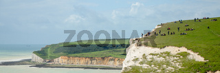 English cliffs of seven sisters