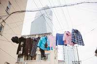 clothes hanging outdoor in Shanghai China