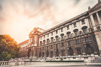 Famous Hofburg palace in Vienna Austria