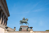 The  statue of Frederick William IV -/ Friedrich Wilhelm in Berlin at Old National Galerie