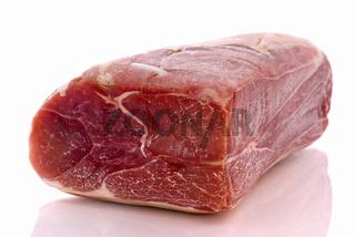 Piece of Ham isolated